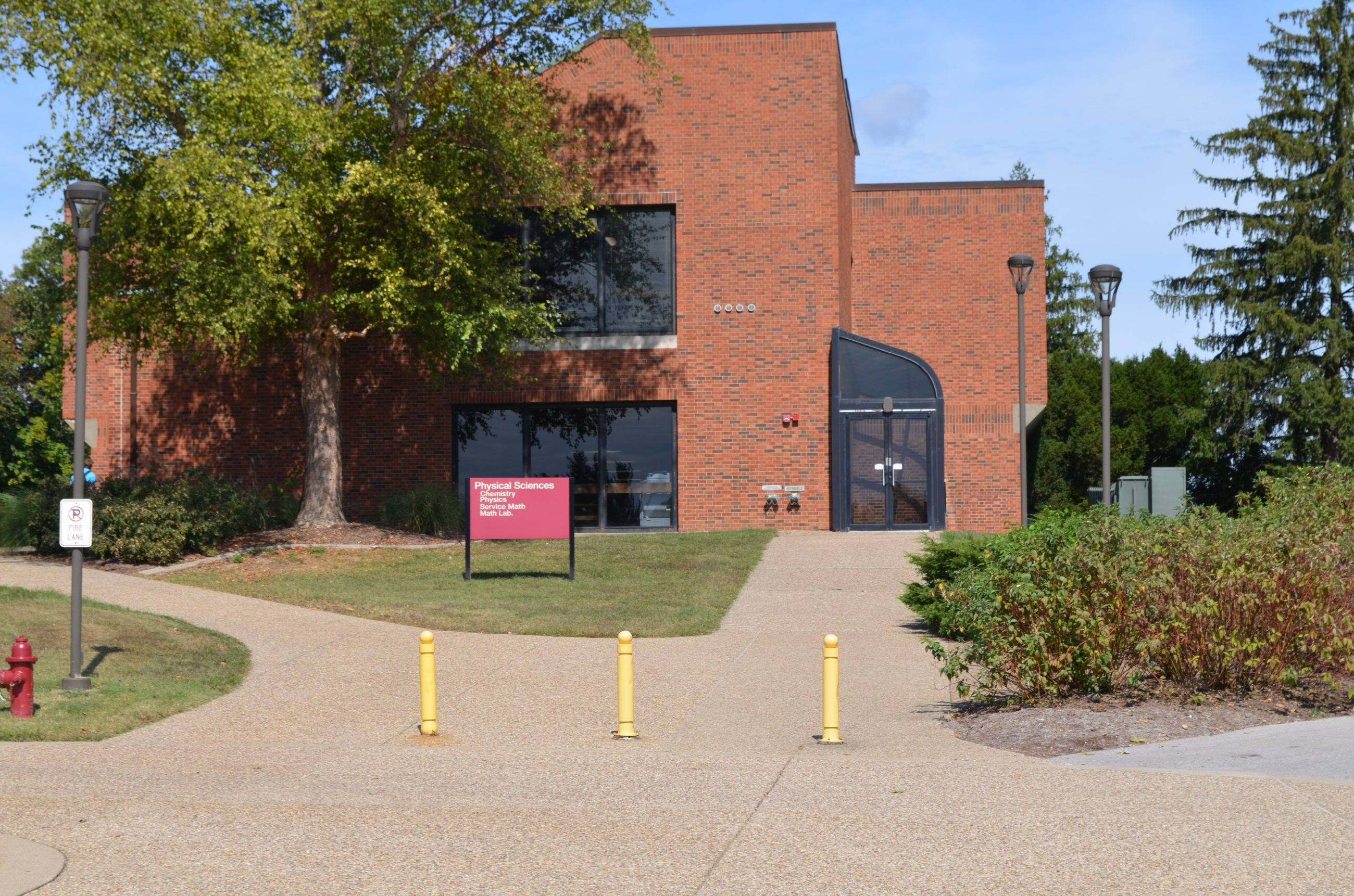 The front of the Physical Sciences Building